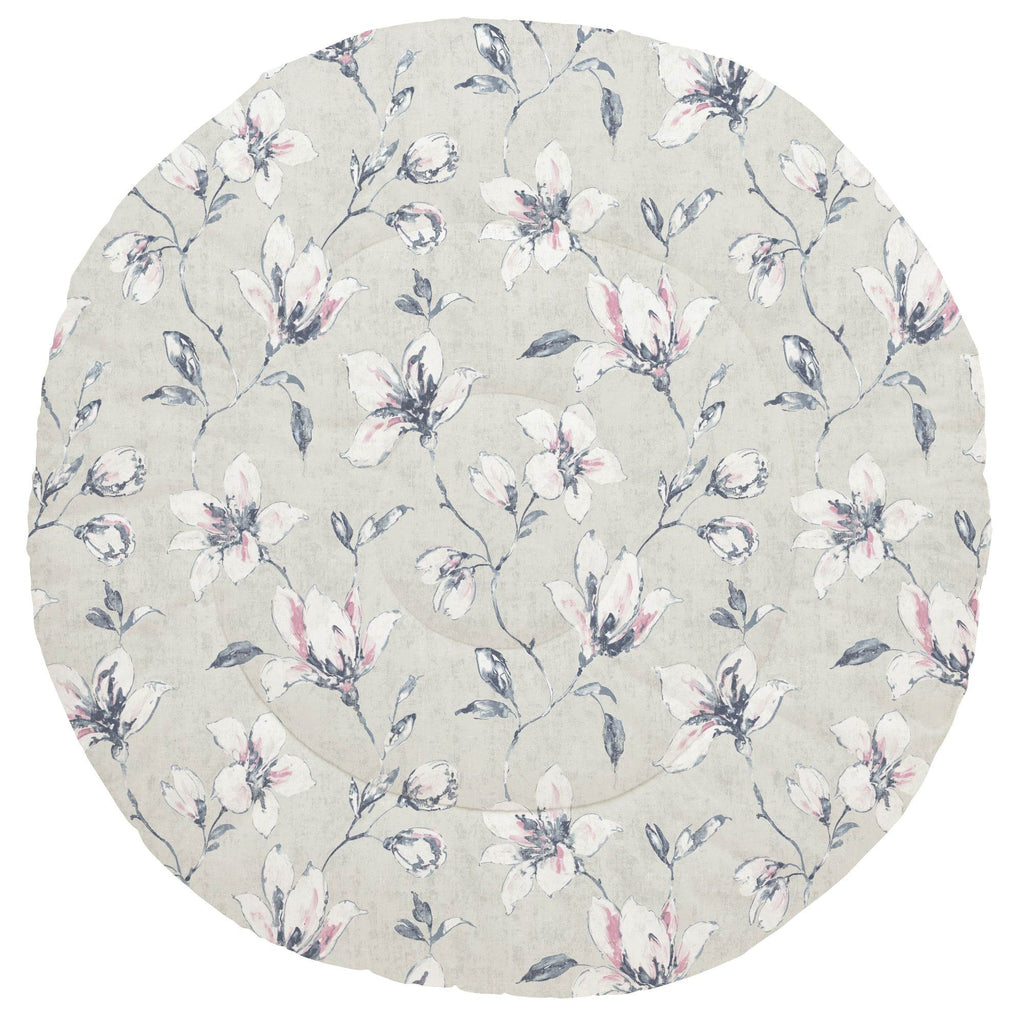Product image for Pink and Blue Painted Lilies Baby Play Mat