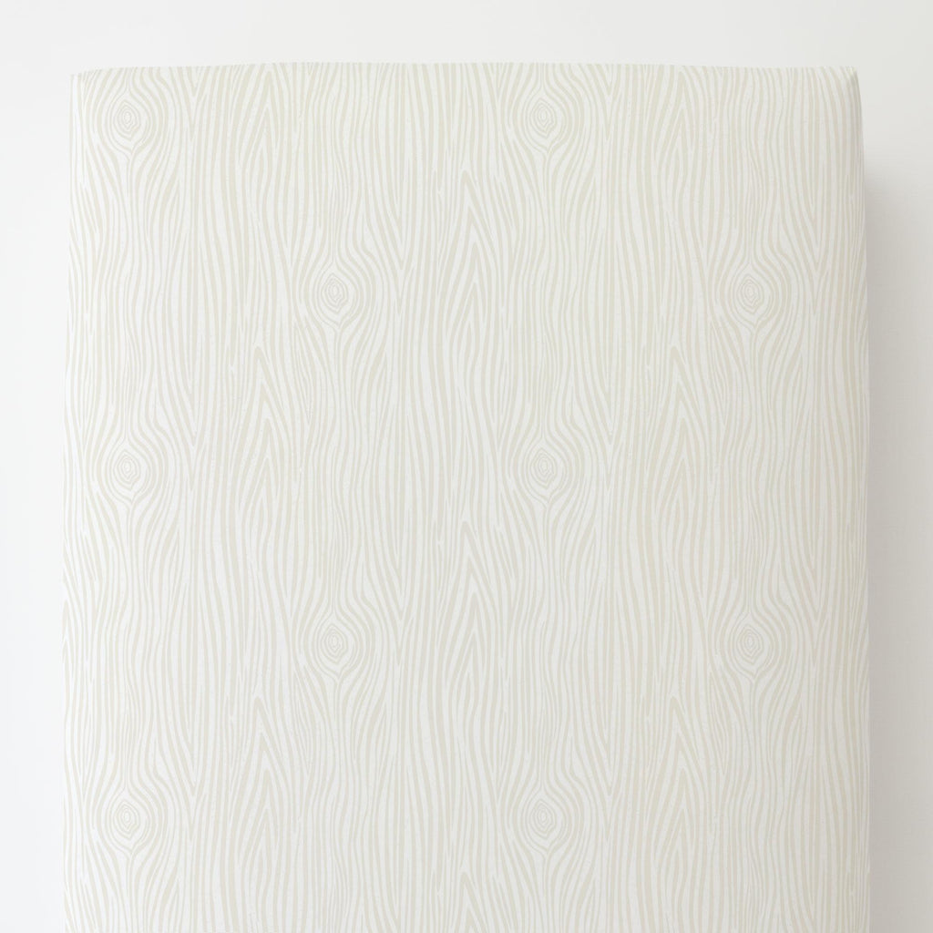 Product image for Ivory Woodgrain Toddler Sheet Bottom Fitted