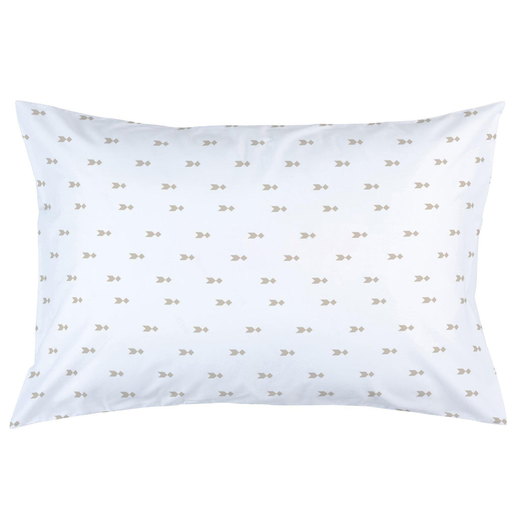 Product image for Taupe Flying Diamonds Pillow Case