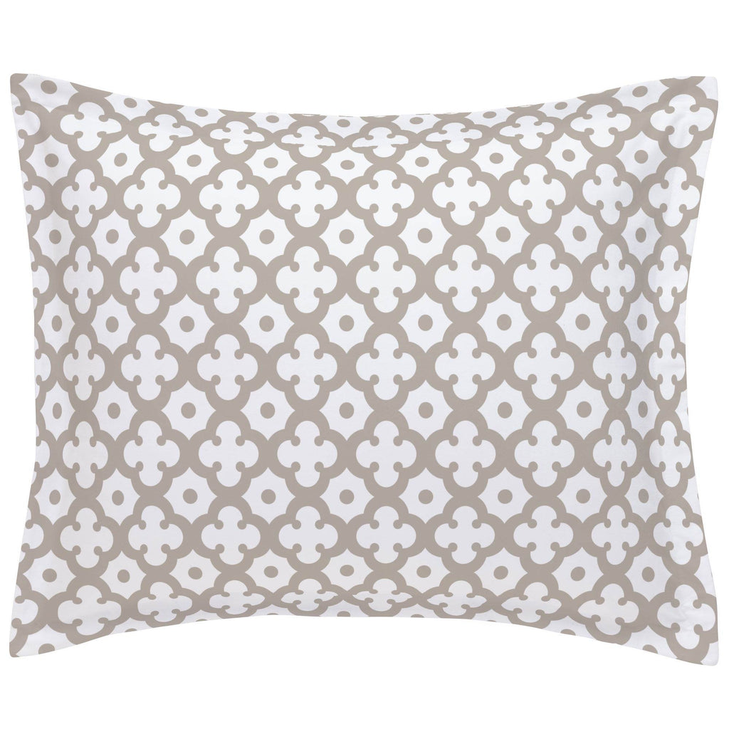 Product image for Taupe Moroccan Tile Pillow Sham