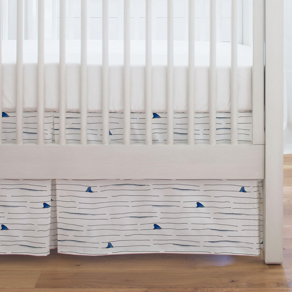 Product image for Shark Fin Stripe Crib Skirt Single-Pleat