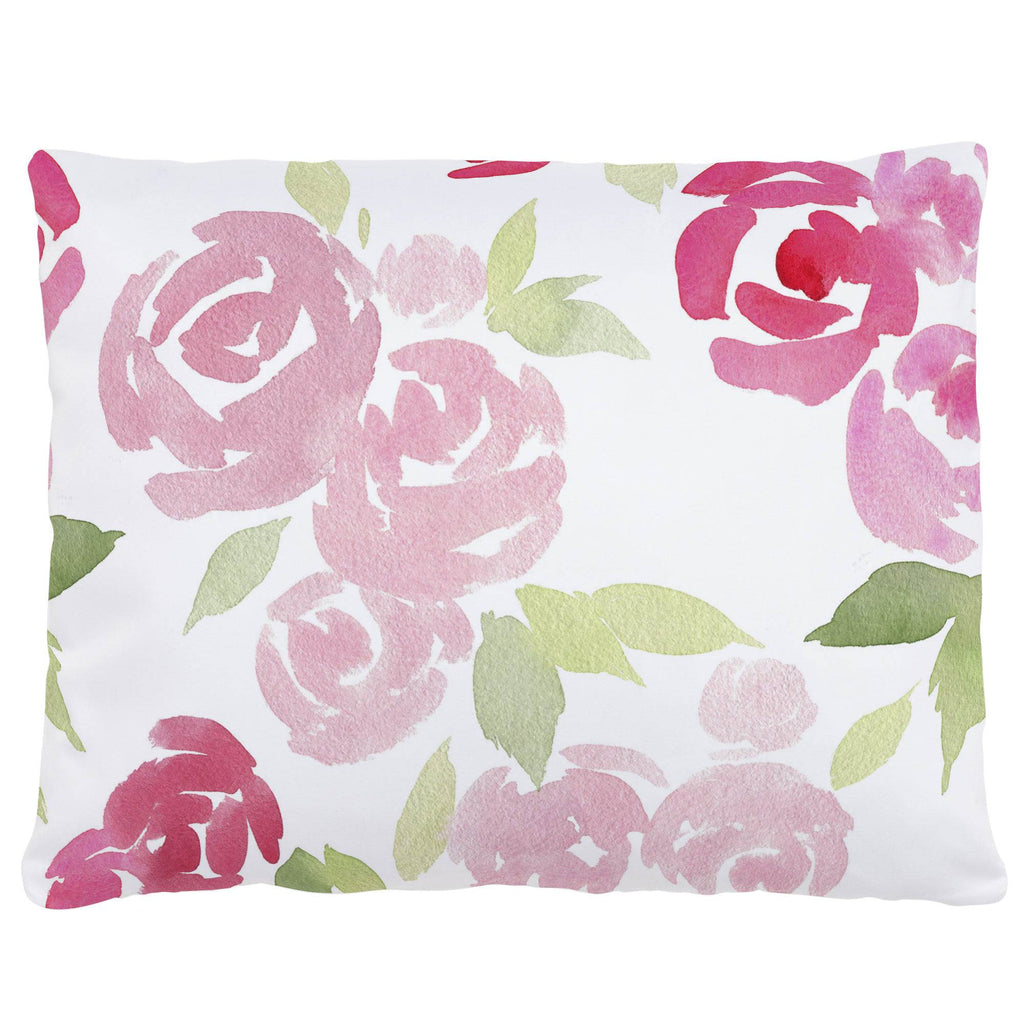 Product image for Watercolor Roses Accent Pillow