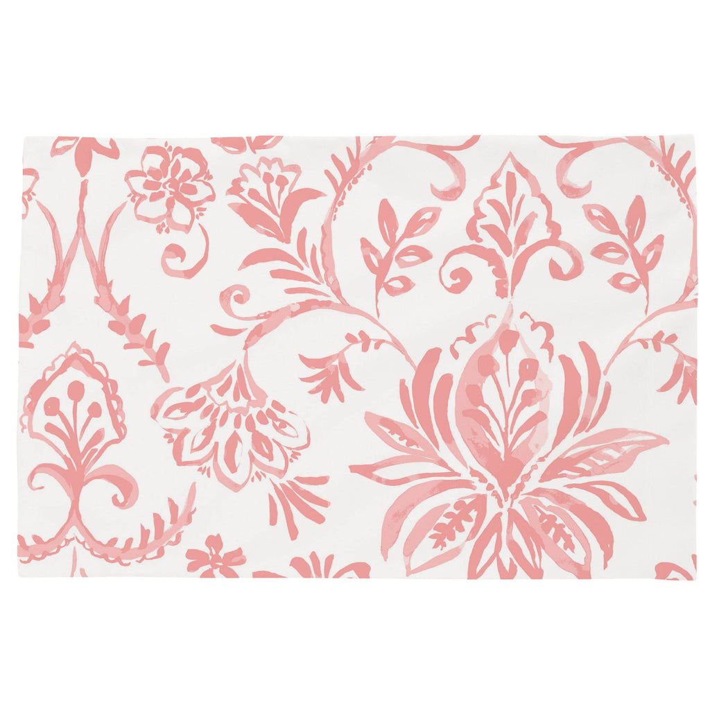 Product image for Coral Pink Coastal Damask Toddler Pillow Case