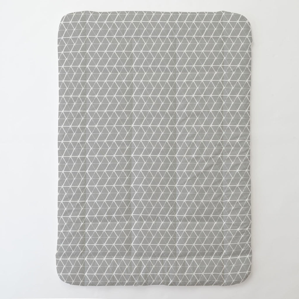 Product image for Gray Aztec Triangles Toddler Comforter