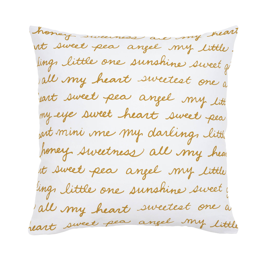 Product image for Mustard Sweet Girl Throw Pillow