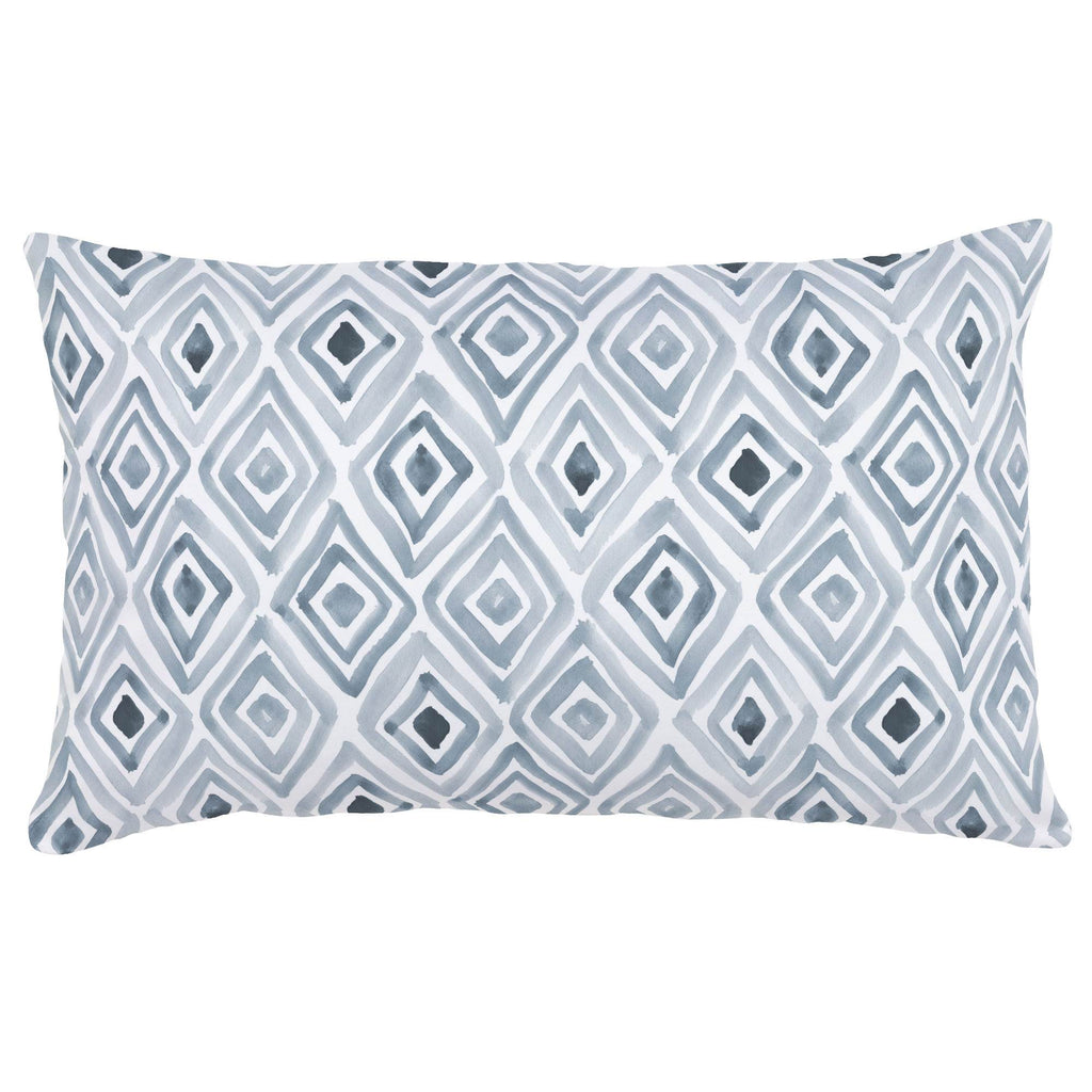 Product image for Steel Blue Painted Diamond Lumbar Pillow