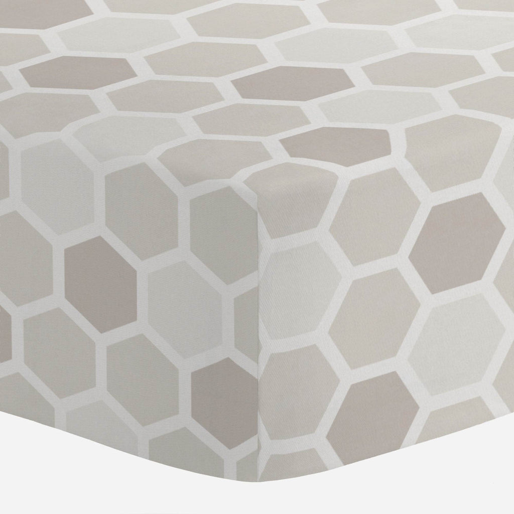 Product image for Taupe Honeycomb Crib Sheet