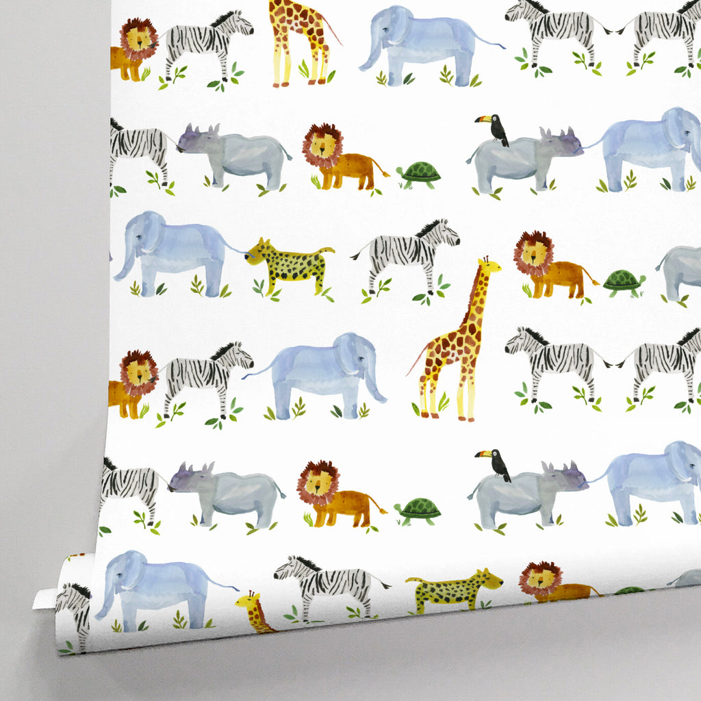 Product image for Painted Zoo Wallpaper Panel