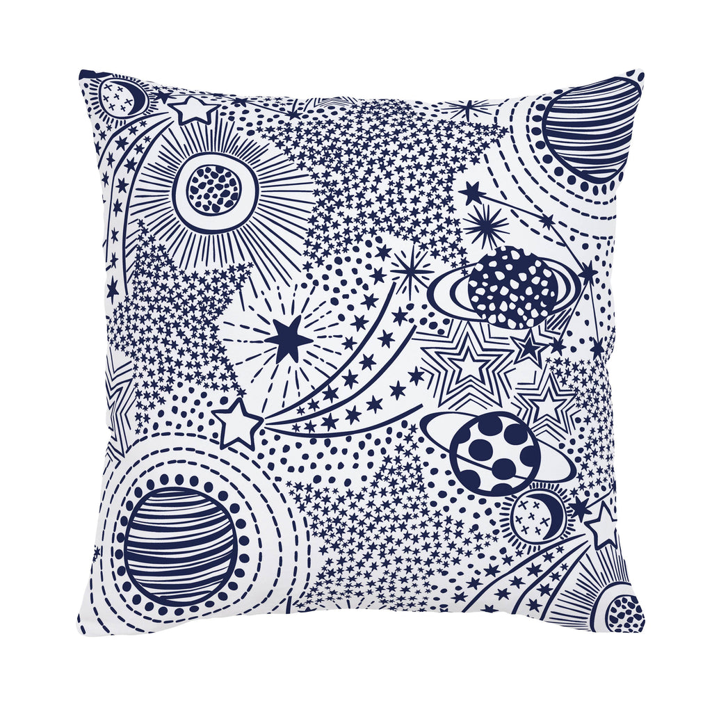 Product image for Navy Galaxy Throw Pillow