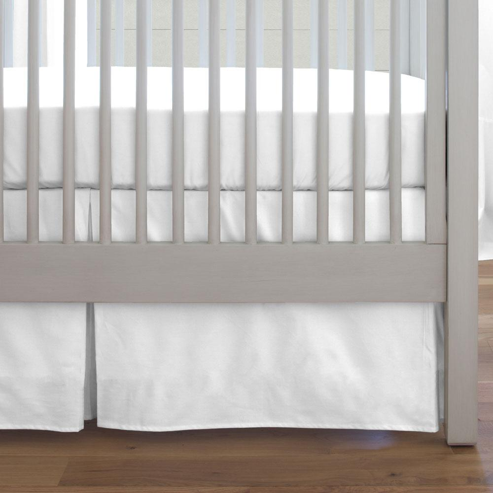 Product image for Solid White Crib Skirt