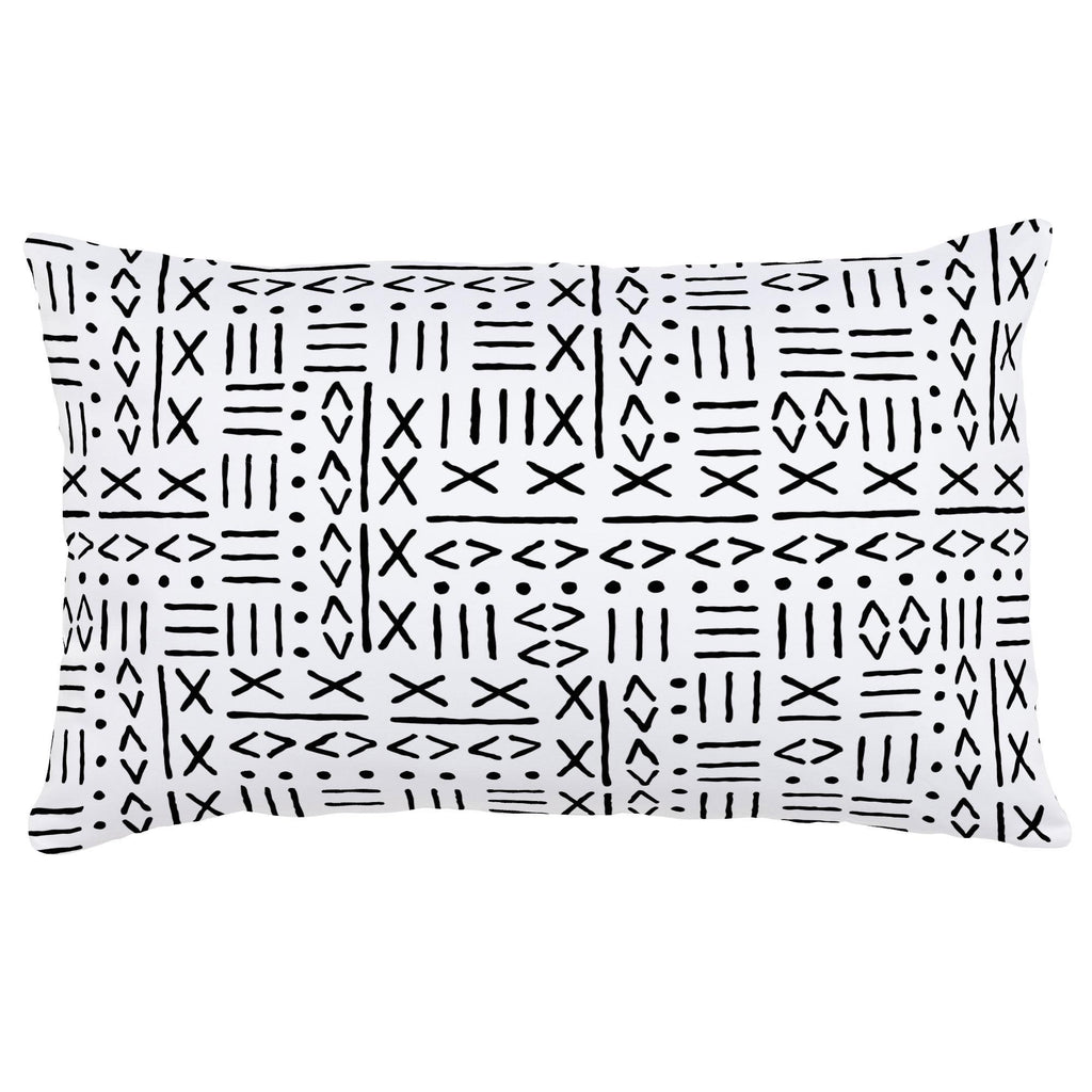 Product image for Onyx Mudcloth Lumbar Pillow
