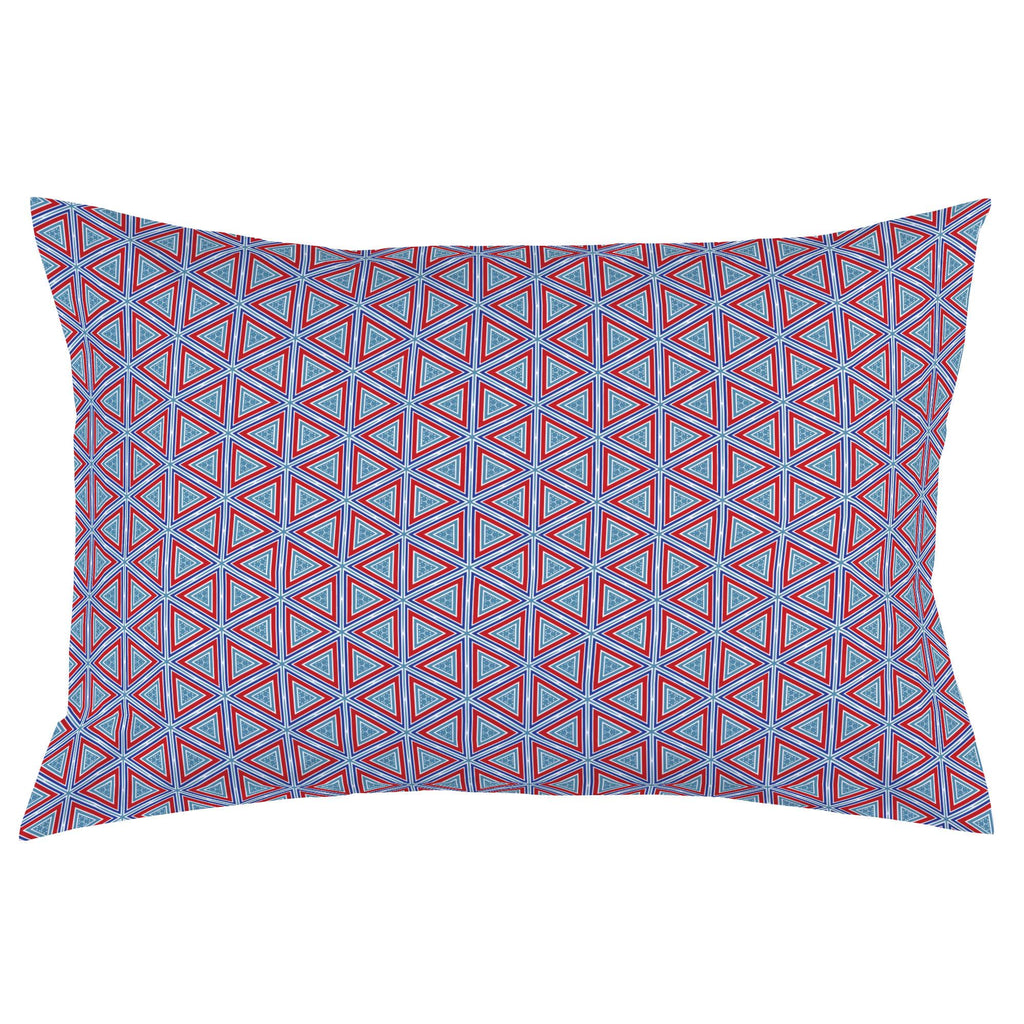 Product image for Red Nautical Triangles Pillow Case