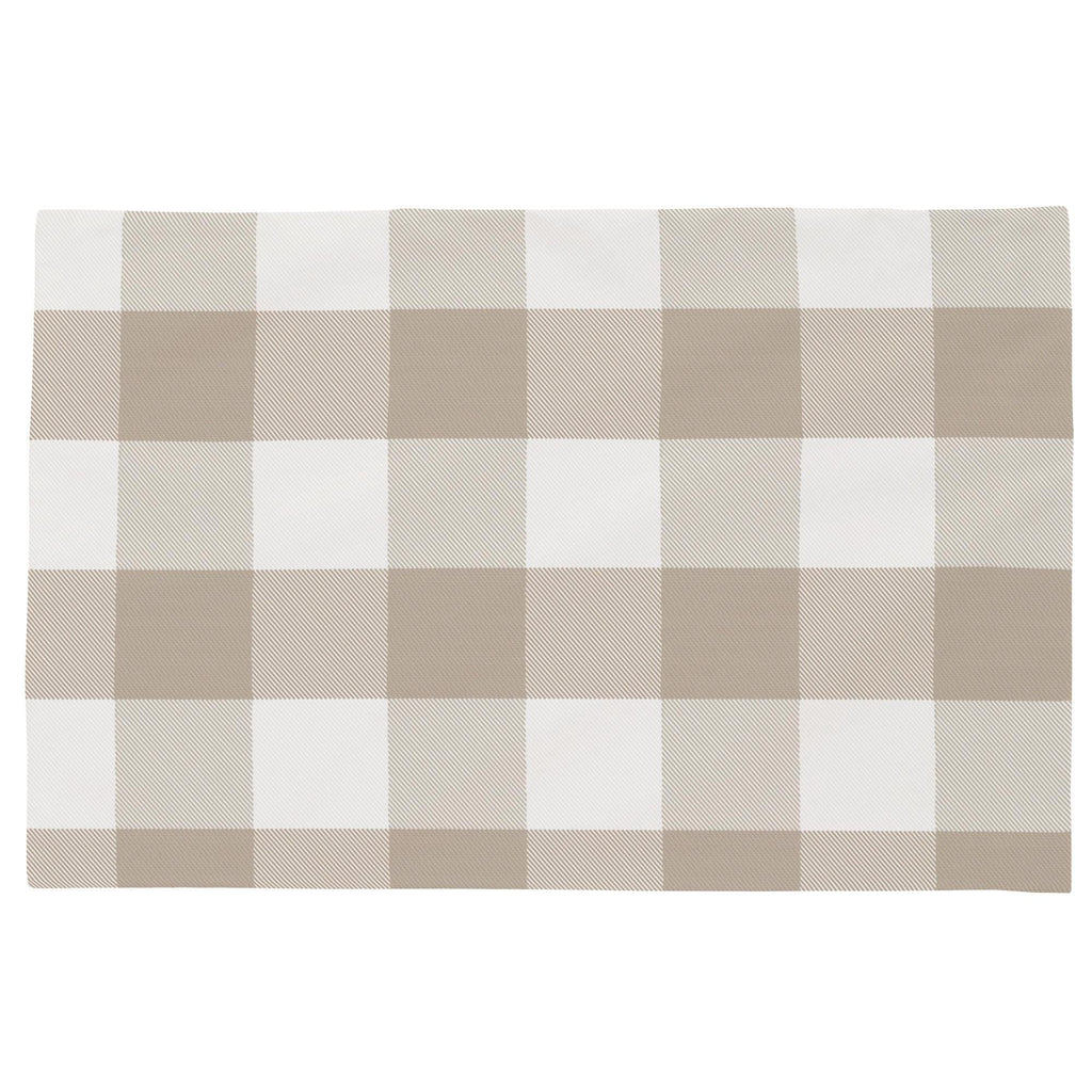 Product image for Taupe and White Buffalo Check Toddler Pillow Case