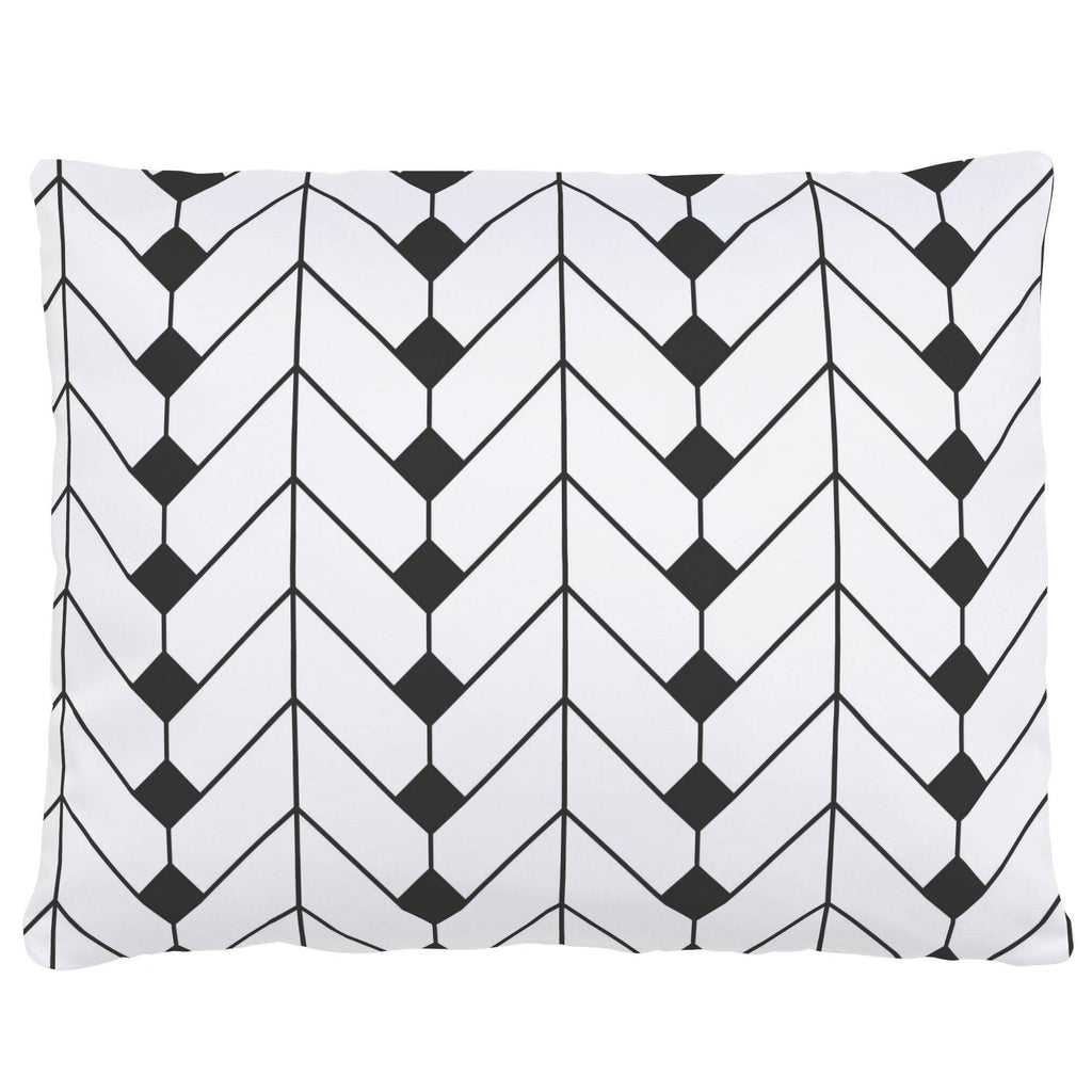 Product image for Charcoal Diamond Herringbone Accent Pillow
