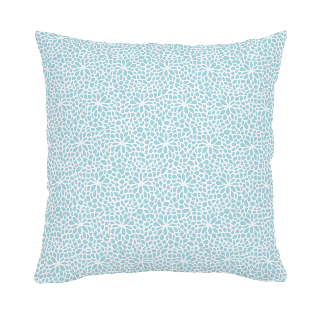 Product image for Seafoam Aqua Modern Mums Throw Pillow