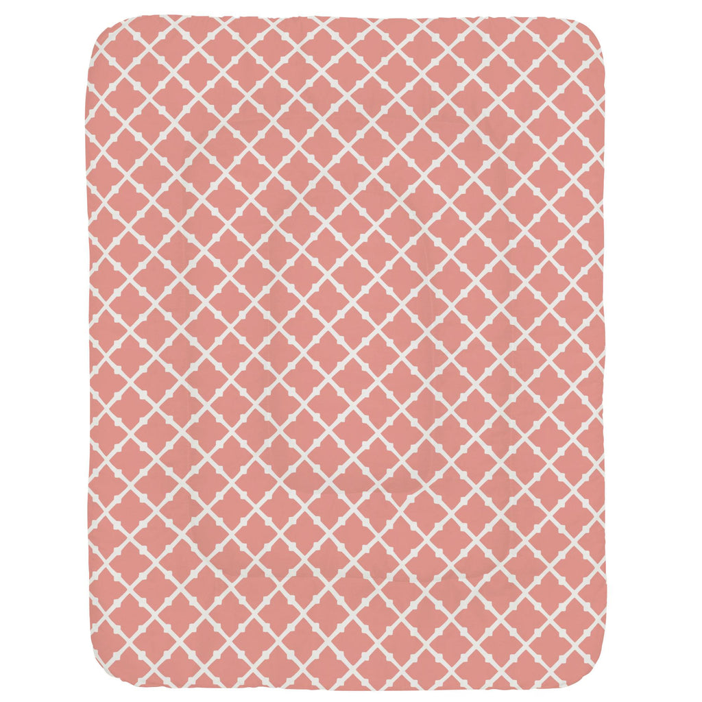 Product image for Light Coral Lattice Crib Comforter
