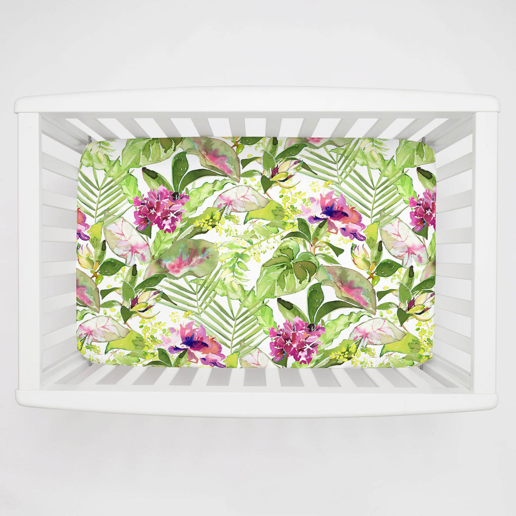 Product image for Tropical Garden Mini Crib Sheet