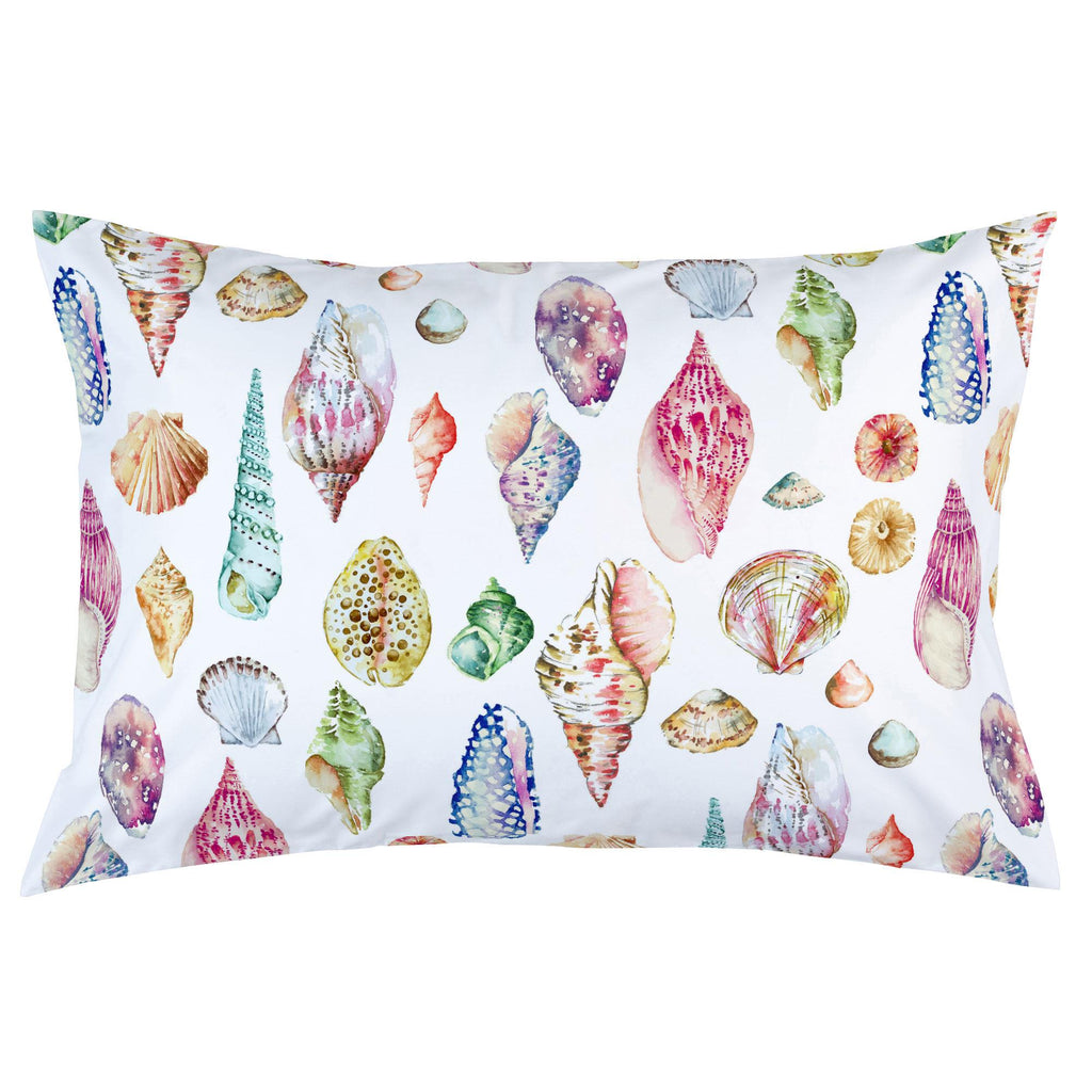Product image for Watercolor Seashells Pillow Case