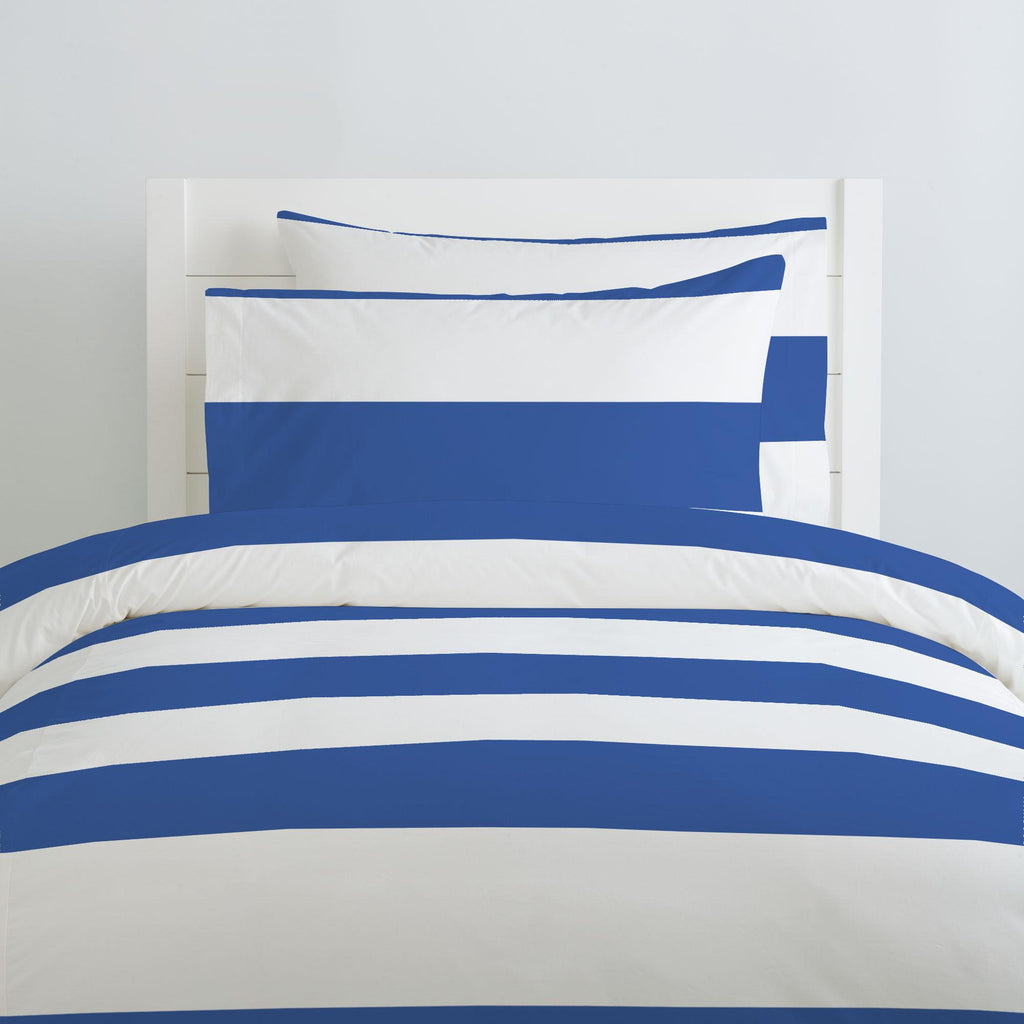 Product image for Ocean Blue Horizontal Stripe Duvet Cover