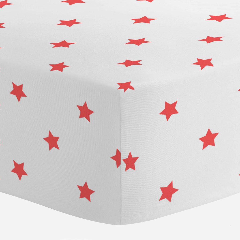 Product image for Coral Stars Crib Sheet