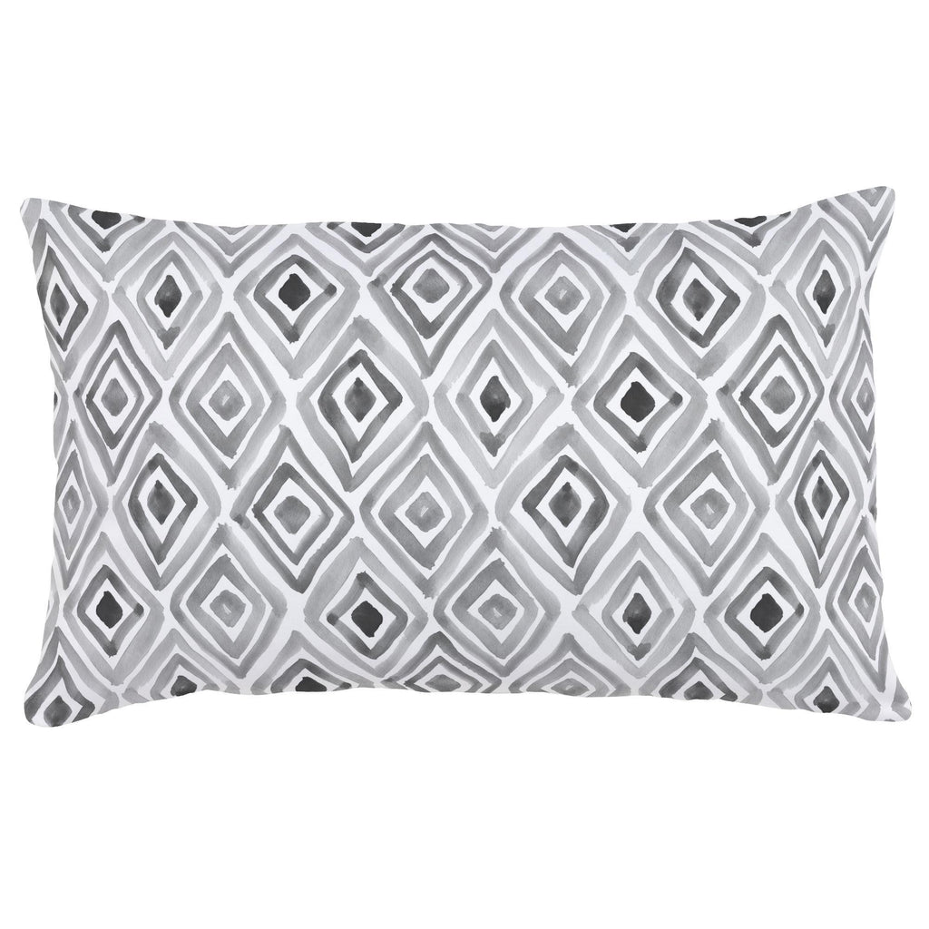 Product image for Gray Painted Diamond Lumbar Pillow