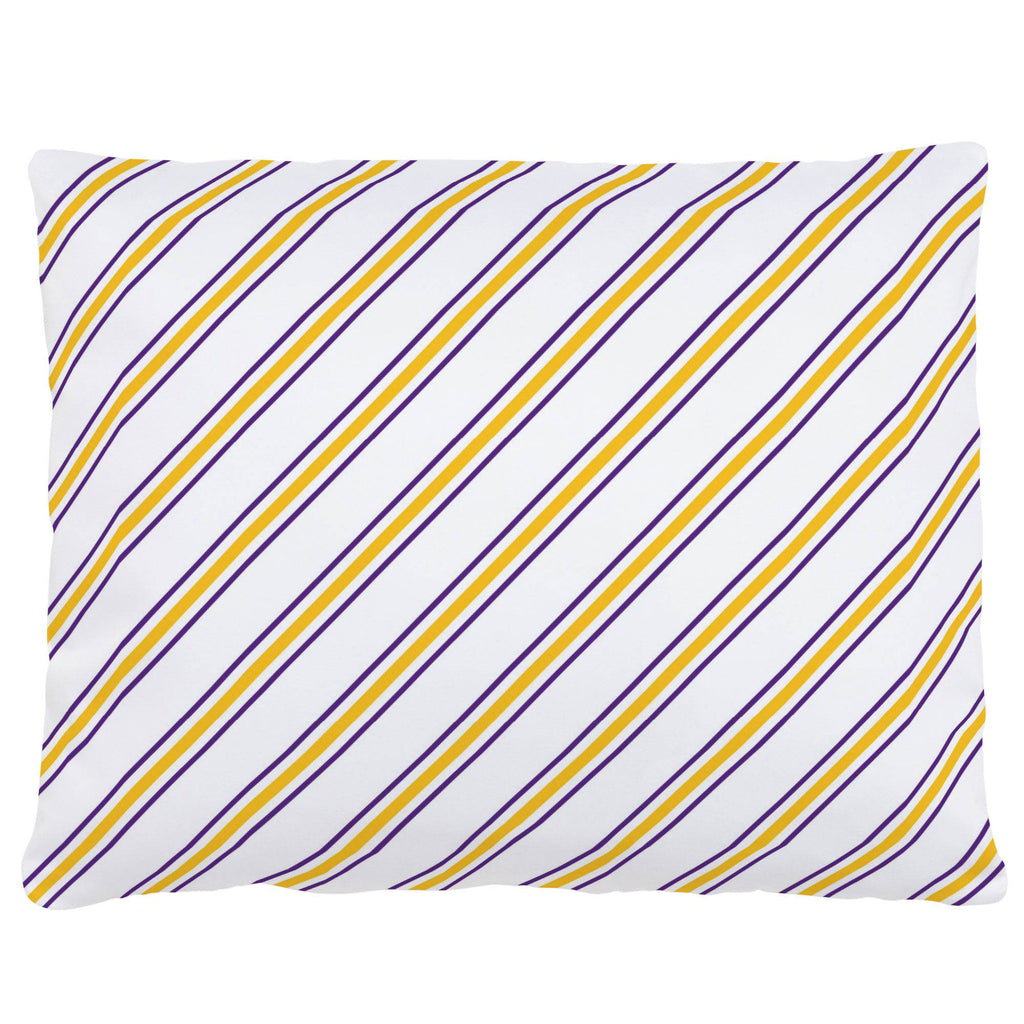 Product image for Purple and Yellow Necktie Stripe Accent Pillow
