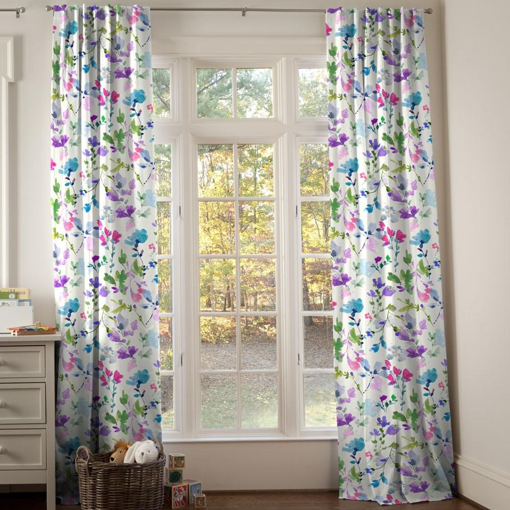 Product image for Bright Wildflower Drape Panel