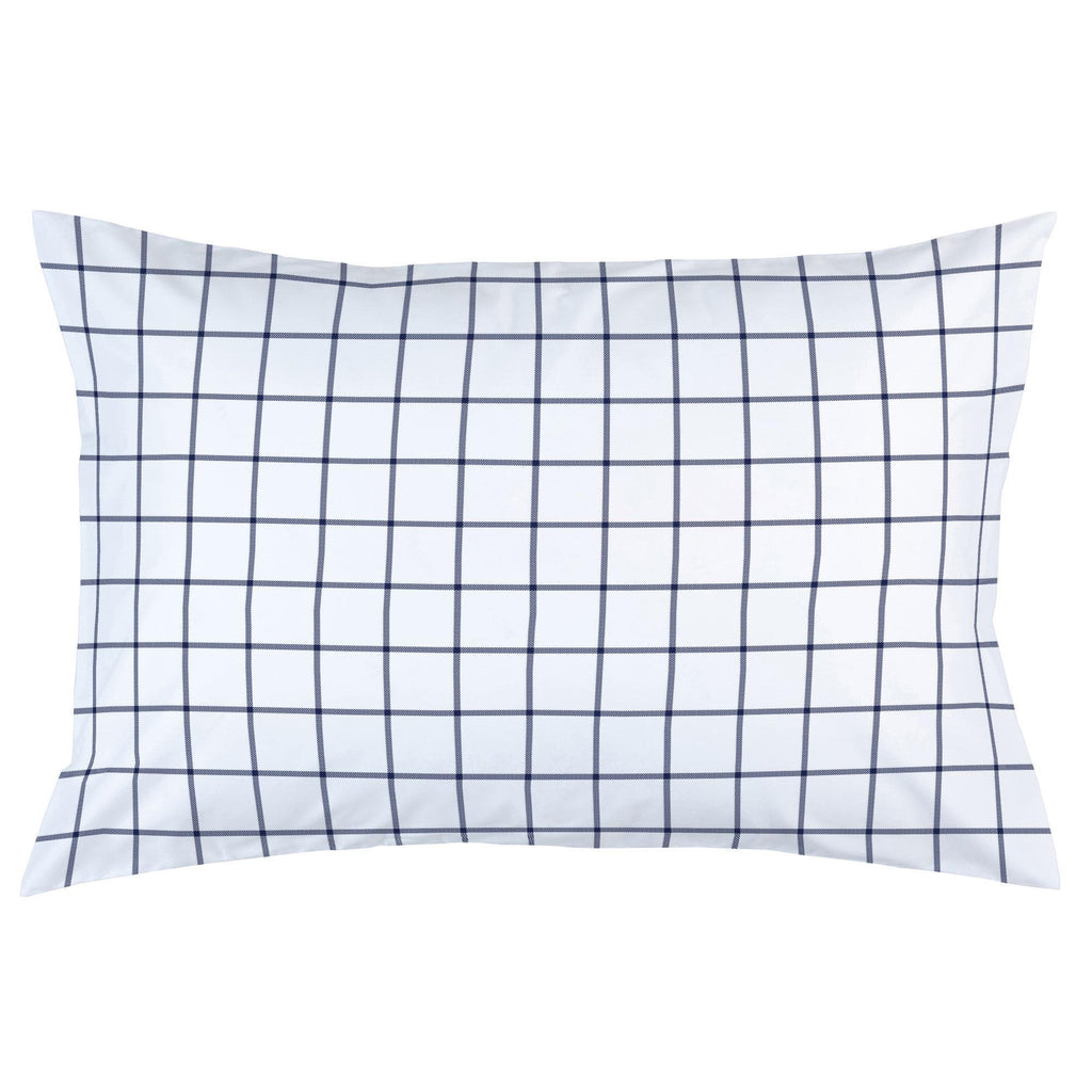 Product image for Navy Windowpane Pillow Case