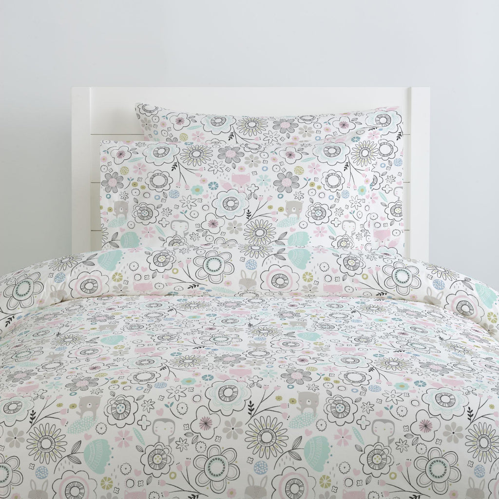 Product image for Pink Spring Doodles Duvet Cover
