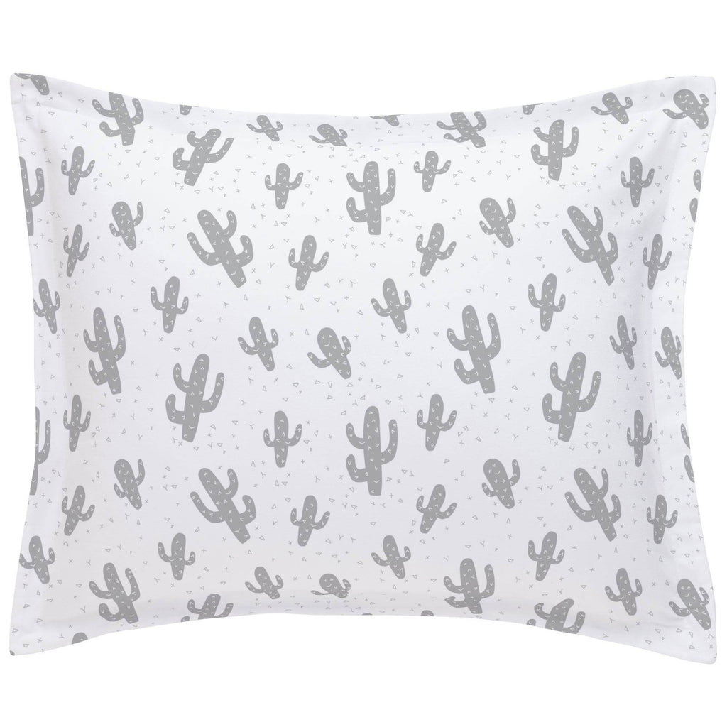 Product image for Silver Gray Cactus Pillow Sham
