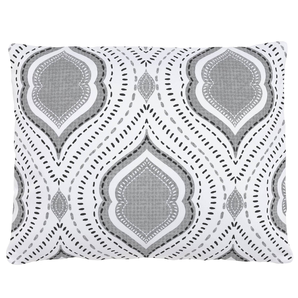 Product image for Gray Moroccan Damask Accent Pillow