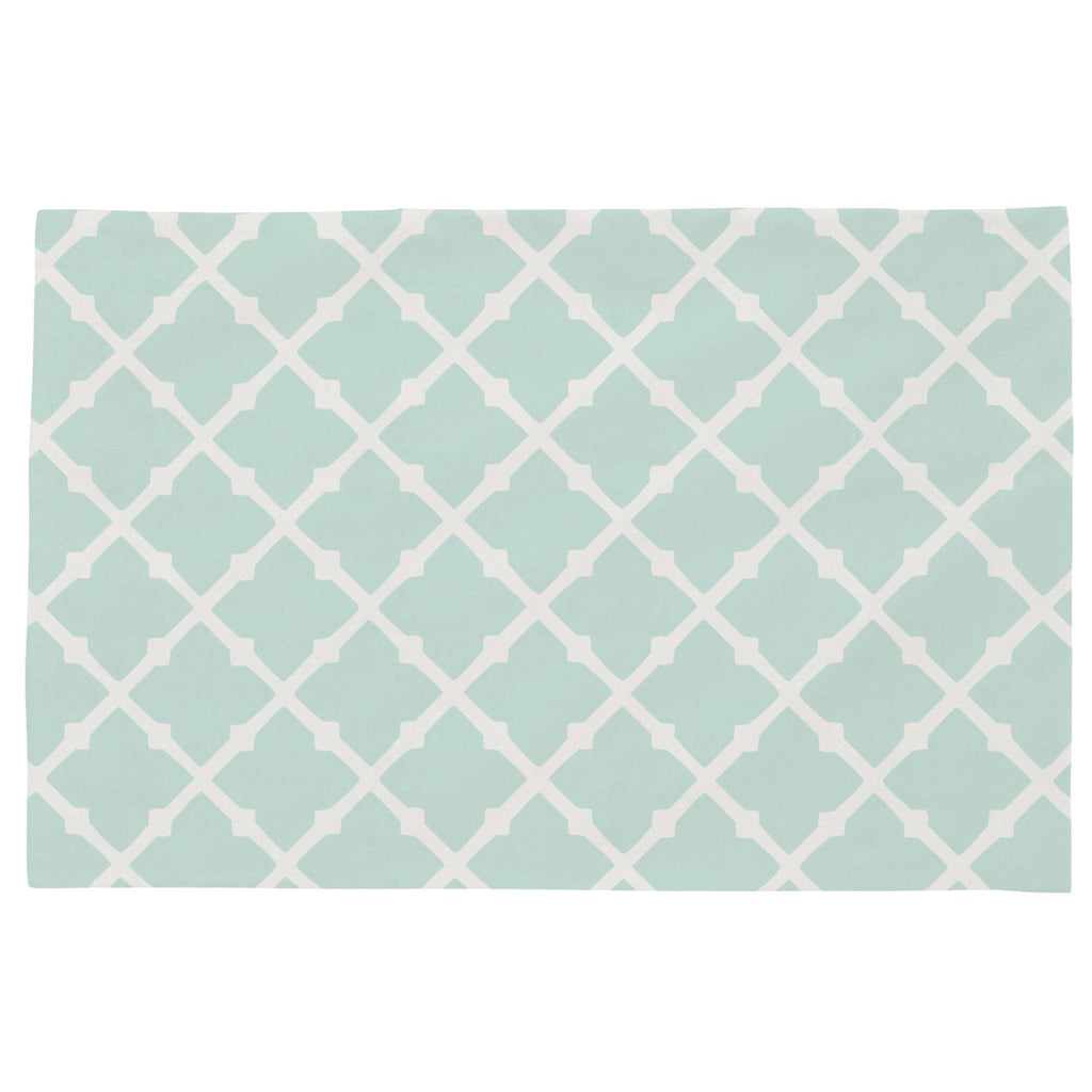 Product image for Icy Mint Lattice Toddler Pillow Case
