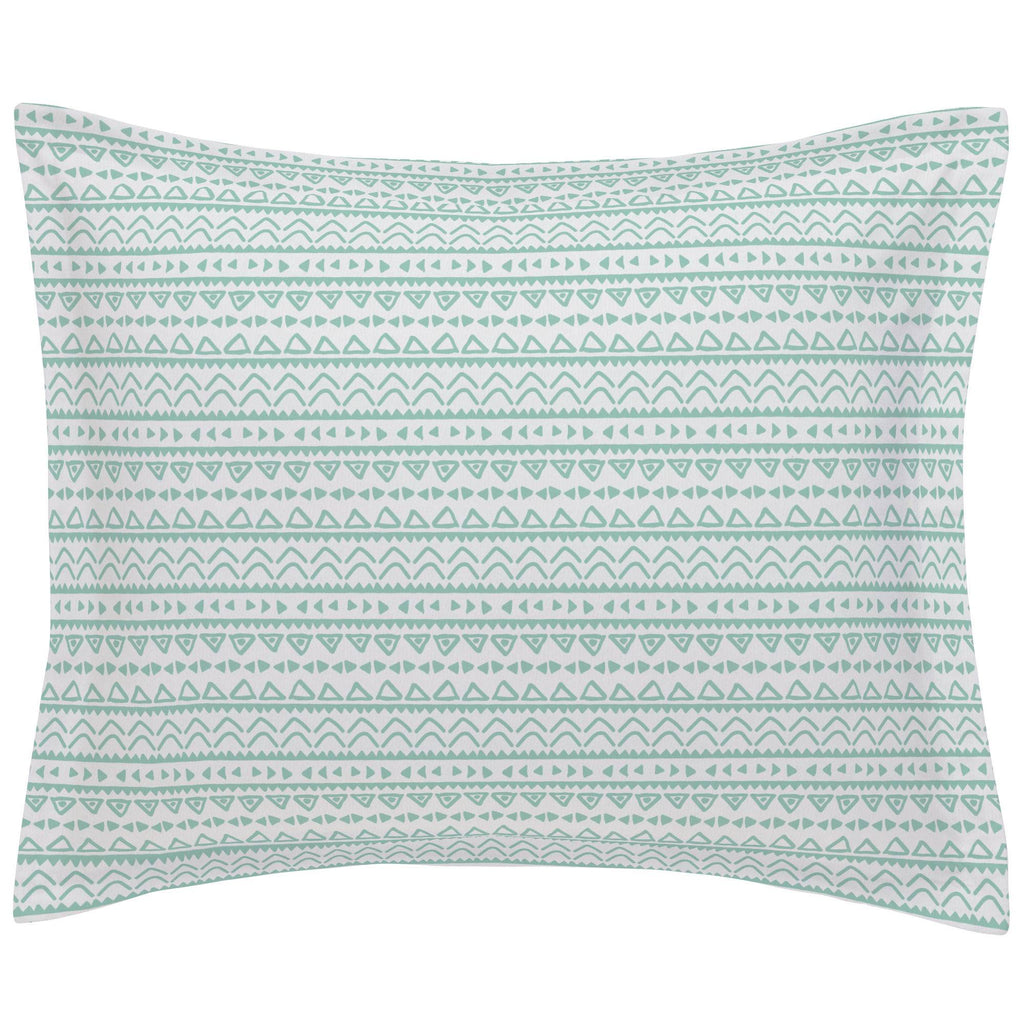 Product image for Mint Baby Aztec Pillow Sham