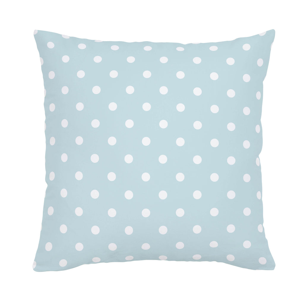 Product image for Mist and White Polka Dot Throw Pillow