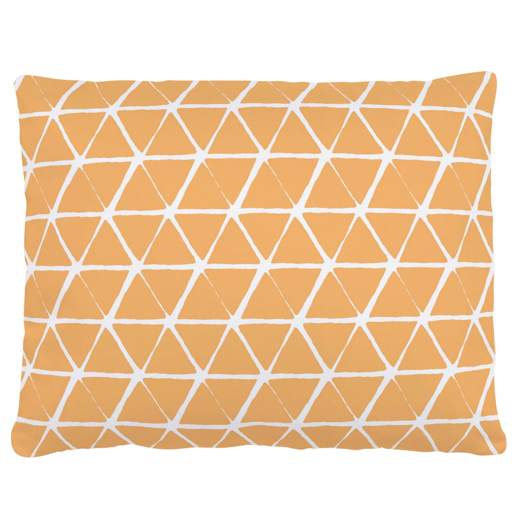 Product image for Light Orange Aztec Triangles Accent Pillow