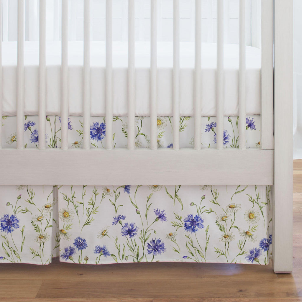 Product image for Cornflower Fields Crib Skirt Single-Pleat