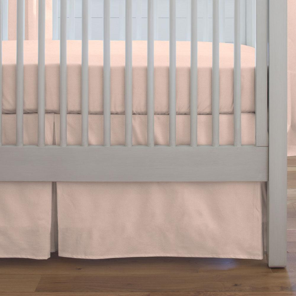 Product image for Solid Peach Crib Skirt