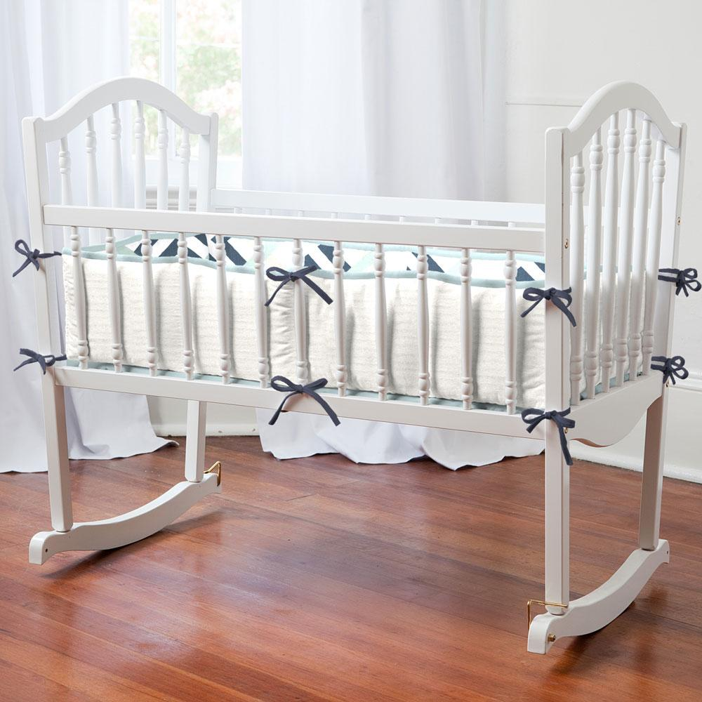 Product image for Navy and Gray Geometric Cradle Bumper