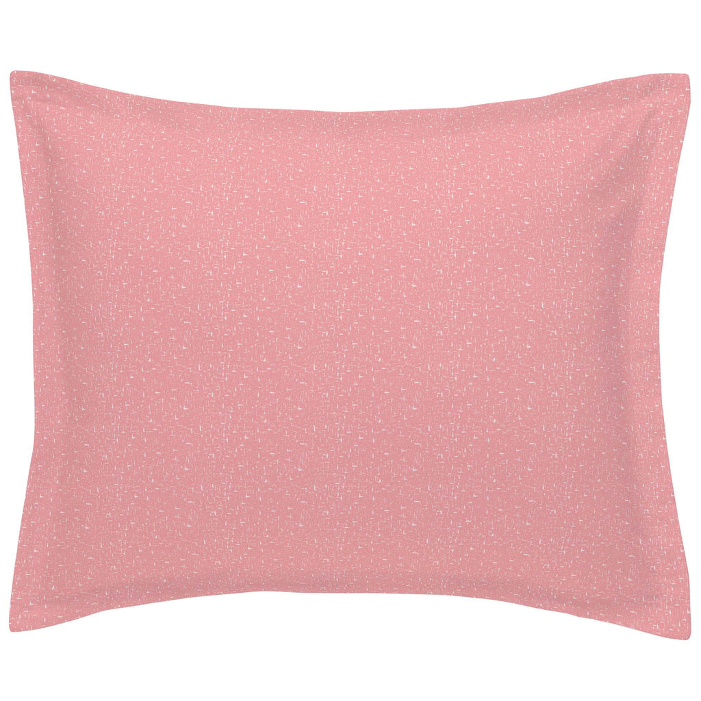 Product image for Coral Pink Heather Pillow Sham