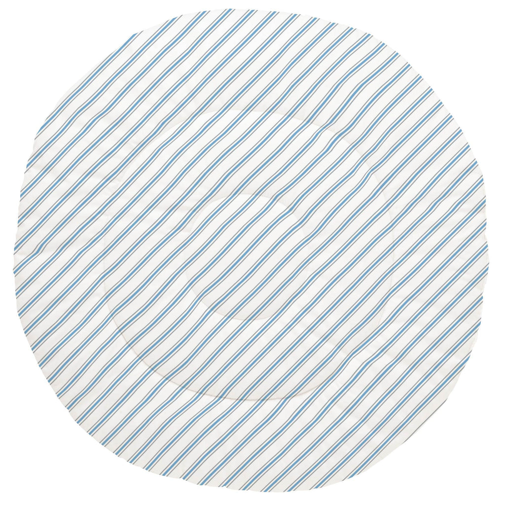 Product image for Gray and Sky Blue Necktie Stripe Baby Play Mat