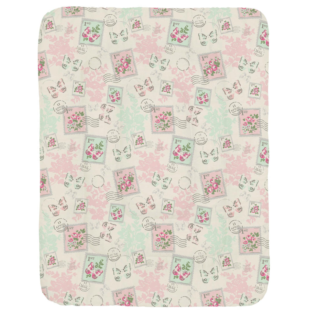 Product image for Blush and Ivory Vintage Stamp Crib Comforter
