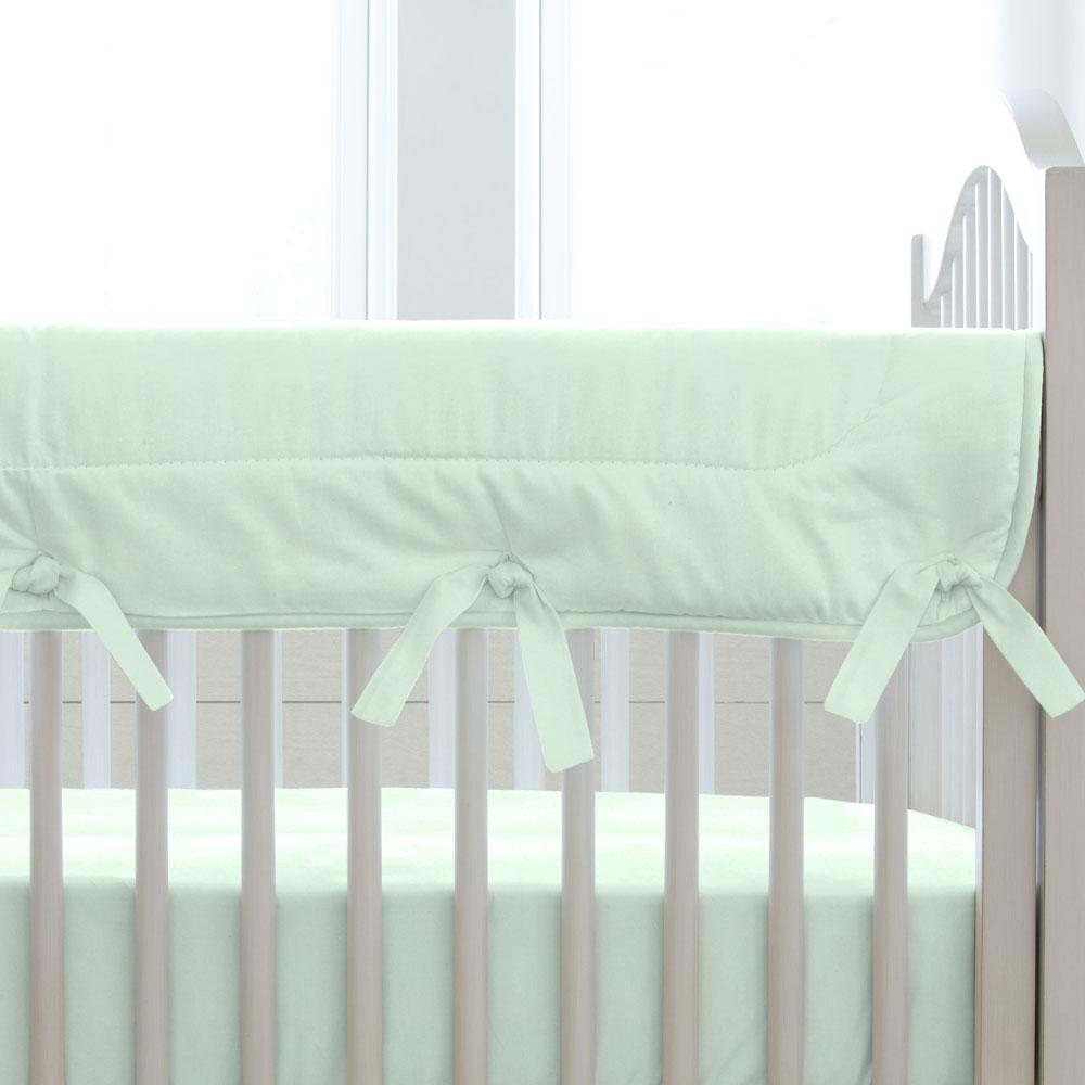 Product image for Solid Icy Mint Crib Rail Cover