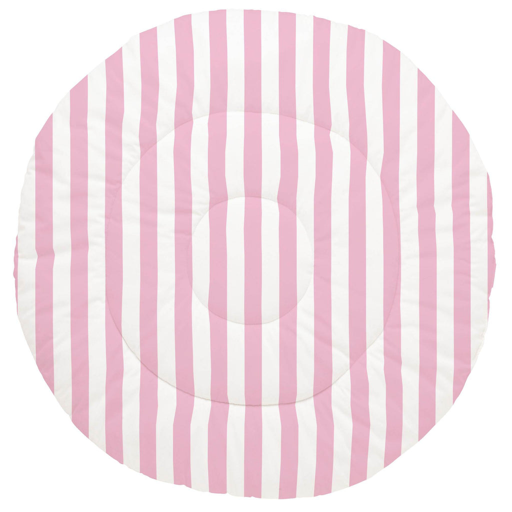 Product image for Bubblegum Pink Stripe Baby Play Mat