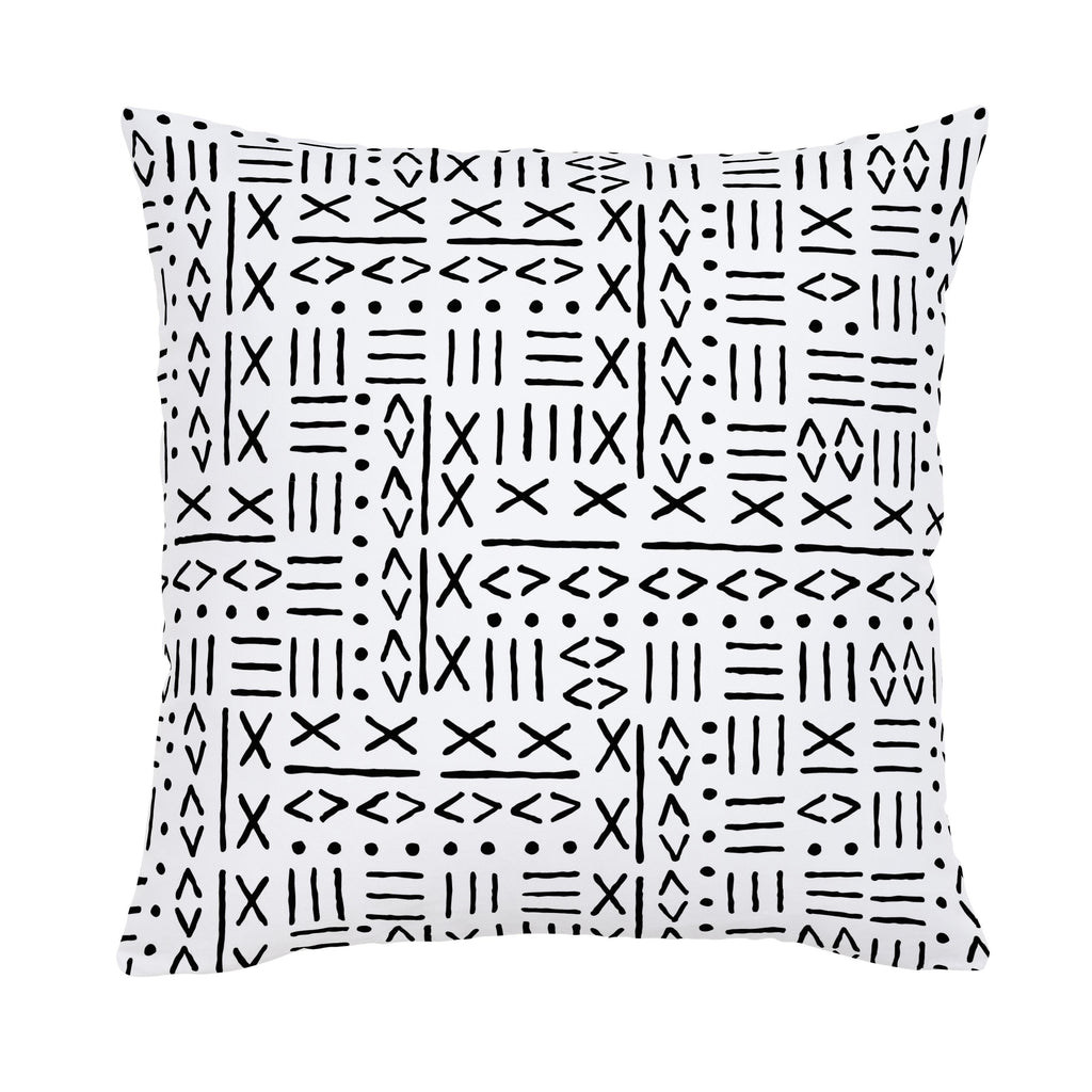 Product image for Onyx Mudcloth Throw Pillow