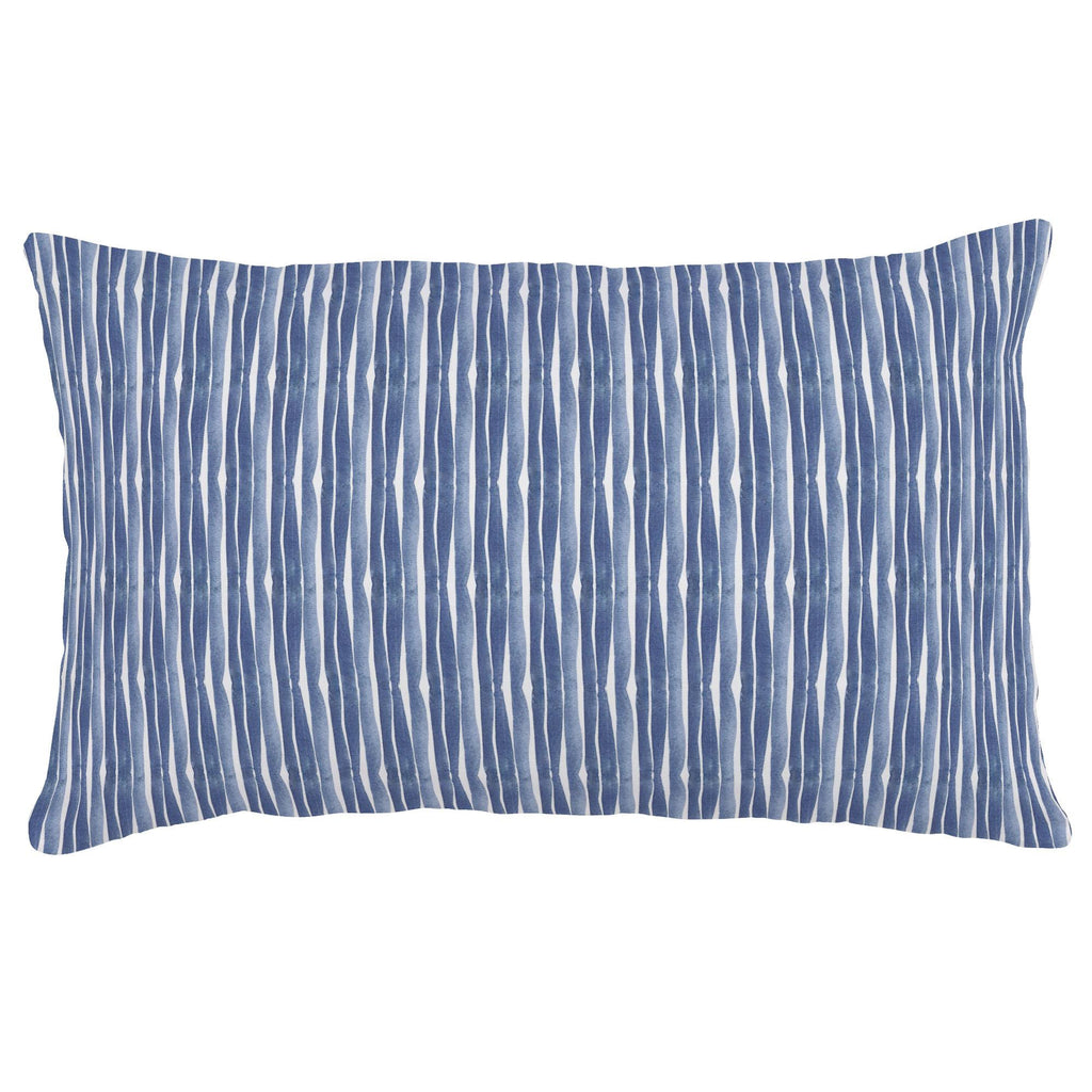 Product image for Blue Ocean Stripe Lumbar Pillow