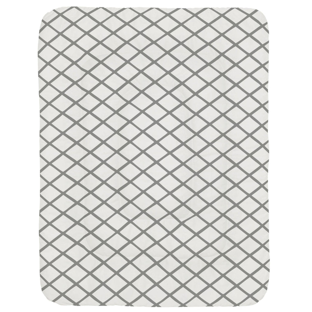 Product image for Cloud Gray Trellis Crib Comforter