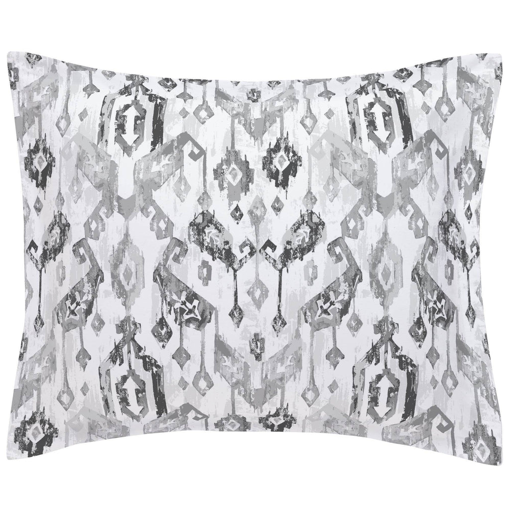 Product image for Gray Tribal Ikat Pillow Sham