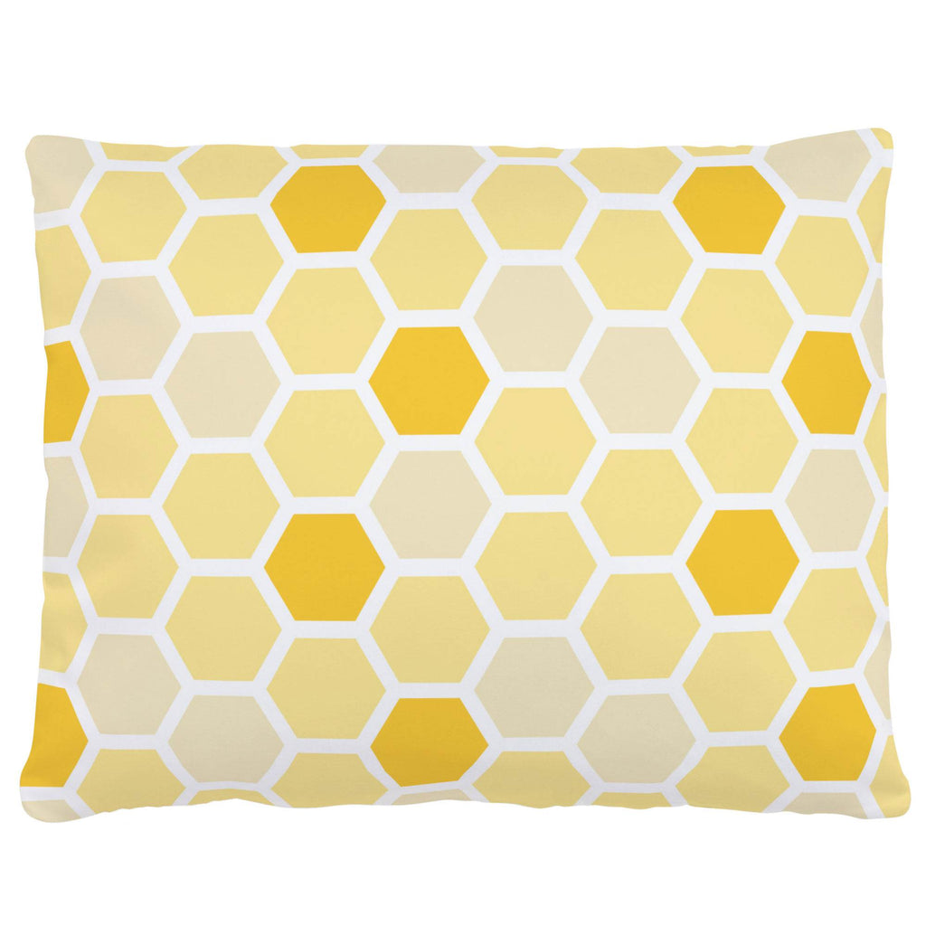 Product image for Yellow Honeycomb Accent Pillow