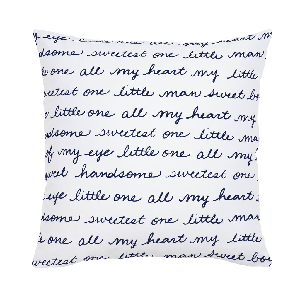 Product image for Navy Sweet Boy Throw Pillow