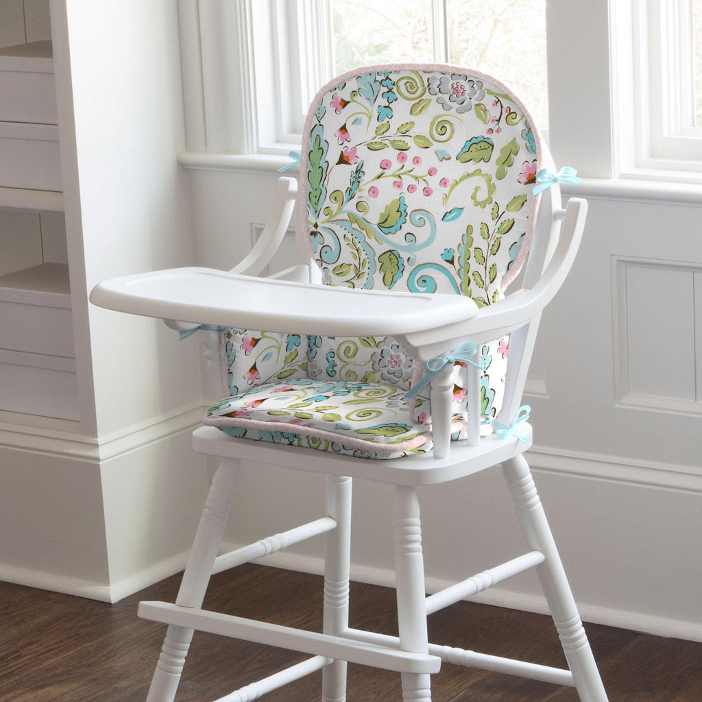 Product image for Love Bird Damask High Chair Pad